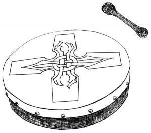 Bodhrán and Beater