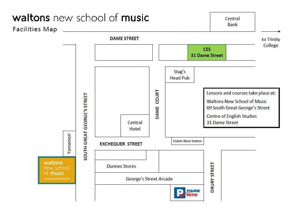Waltons New School of Music Facilities Map